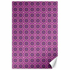 Floral Circles Pink Canvas 20  X 30  by BrightVibesDesign