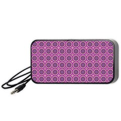 Floral Circles Pink Portable Speaker by BrightVibesDesign