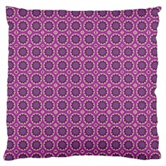 Floral Circles Pink Standard Flano Cushion Case (two Sides)