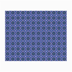 Floral Circles Blue Small Glasses Cloth (2 Side)