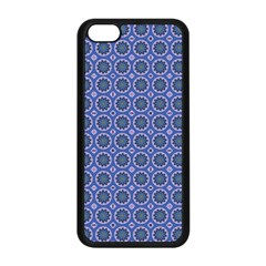 Floral Circles Blue Apple Iphone 5c Seamless Case (black)