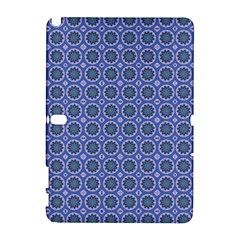 Floral Circles Blue Samsung Galaxy Note 10 1 (p600) Hardshell Case