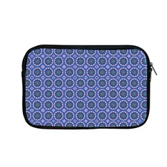 Floral Circles Blue Apple Macbook Pro 13  Zipper Case by BrightVibesDesign