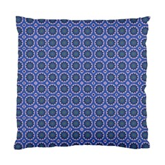 Floral Circles Blue Standard Cushion Case (one Side) by BrightVibesDesign