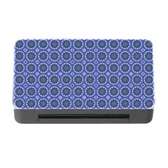 Floral Circles Blue Memory Card Reader With Cf by BrightVibesDesign