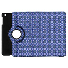 Floral Circles Blue Apple Ipad Mini Flip 360 Case by BrightVibesDesign