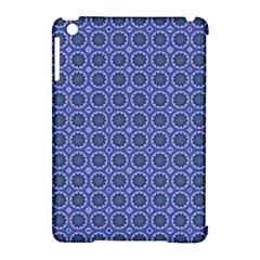 Floral Circles Blue Apple Ipad Mini Hardshell Case (compatible With Smart Cover) by BrightVibesDesign