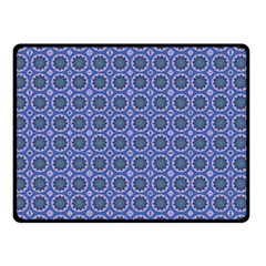 Floral Circles Blue Double Sided Fleece Blanket (small)