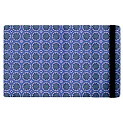 Floral Circles Blue Apple Ipad Pro 9 7   Flip Case by BrightVibesDesign