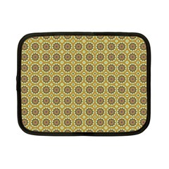 Floral Circles Yellow Netbook Case (small) by BrightVibesDesign