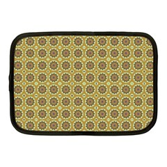 Floral Circles Yellow Netbook Case (medium) by BrightVibesDesign