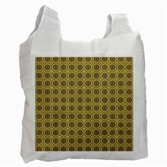 Floral Circles Yellow Recycle Bag (one Side) by BrightVibesDesign