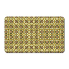 Floral Circles Yellow Magnet (rectangular) by BrightVibesDesign