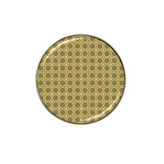 Floral Circles Yellow Hat Clip Ball Marker