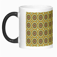 Floral Circles Yellow Morph Mugs by BrightVibesDesign