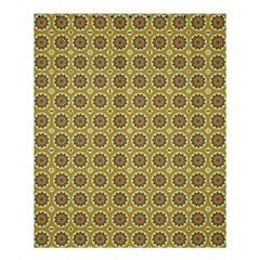 Floral Circles Yellow Shower Curtain 60  X 72  (medium)  by BrightVibesDesign