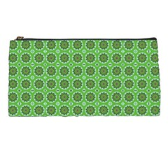 Floral Circles Green Pencil Cases by BrightVibesDesign