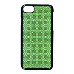 Floral Circles Green Apple Iphone 7 Seamless Case (black) by BrightVibesDesign