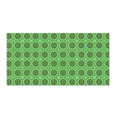 Floral Circles Green Satin Wrap by BrightVibesDesign