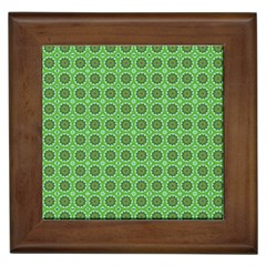 Floral Circles Green Framed Tiles