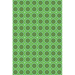 Floral Circles Green 5 5  X 8 5  Notebook
