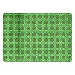 Floral Circles Green Samsung Galaxy Tab 10 1  P7500 Flip Case by BrightVibesDesign