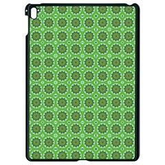 Floral Circles Green Apple Ipad Pro 9 7   Black Seamless Case by BrightVibesDesign