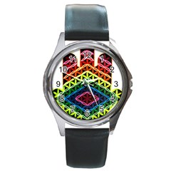 Hamsa Of God Round Metal Watch by CruxMagic