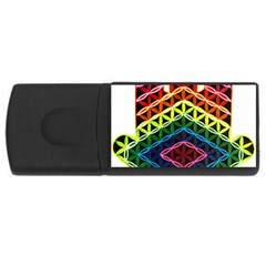 Hamsa Of God Rectangular Usb Flash Drive by CruxMagic