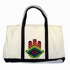 Hamsa Of God Two Tone Tote Bag