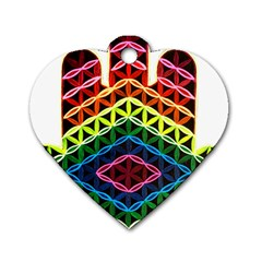 Hamsa Of God Dog Tag Heart (two Sides) by CruxMagic