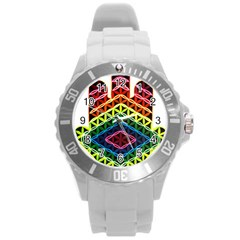 Hamsa Of God Round Plastic Sport Watch (l) by CruxMagic