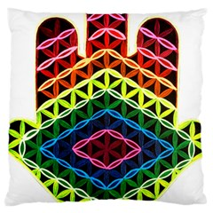 Hamsa Of God Large Cushion Case (one Side) by CruxMagic
