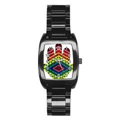 Hamsa Stainless Steel Barrel Watch by CruxMagic