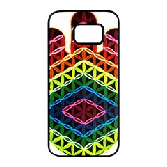 Hamsa Samsung Galaxy S7 Edge Black Seamless Case by CruxMagic