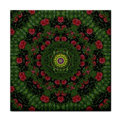 Sunshine Mandala In Rose Heaven Face Towel