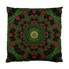 Sunshine Mandala In Rose Heaven Standard Cushion Case (two Sides) by pepitasart