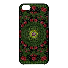 Sunshine Mandala In Rose Heaven Apple Iphone 5c Hardshell Case by pepitasart