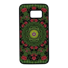 Sunshine Mandala In Rose Heaven Samsung Galaxy S7 Black Seamless Case by pepitasart