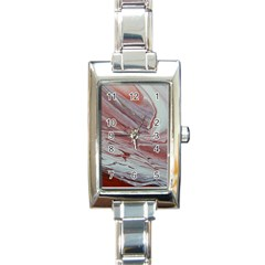 Female Rectangle Italian Charm Watch