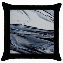 Space Drift Throw Pillow Case (black)