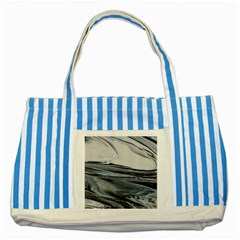 Space Drift Striped Blue Tote Bag
