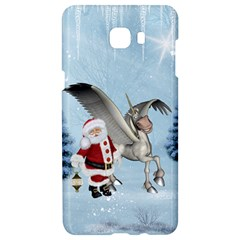 Santa Claus With Cute Pegasus In A Winter Landscape Samsung C9 Pro Hardshell Case