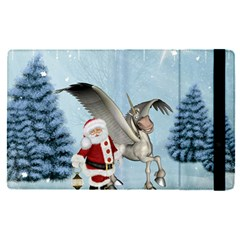 Santa Claus With Cute Pegasus In A Winter Landscape Ipad Mini 4 by FantasyWorld7
