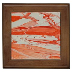 Orange Swirl Framed Tiles by WILLBIRDWELL