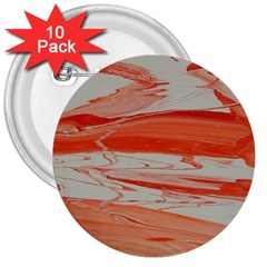 Orange Swirl 3  Buttons (10 Pack)