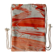 Orange Swirl Drawstring Bag (large)