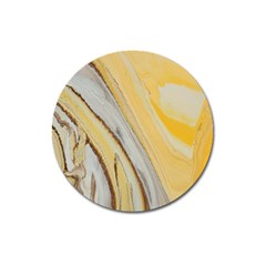 Yellow Jungle Magnet 3  (round)