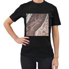 Mud Women s T Shirt (black) (two Sided)