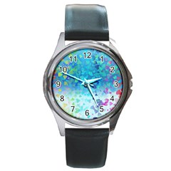 Hearts Colors Round Metal Watch by LoolyElzayat
